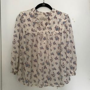 Abercrombie and Fitch- Floral Peasant Top